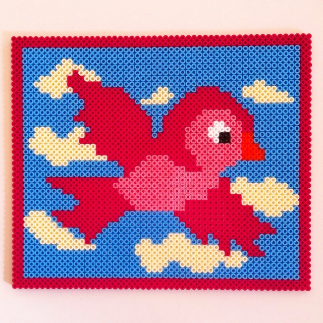hama bead bird