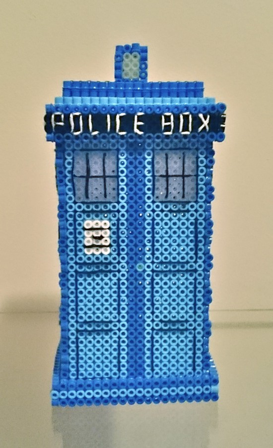 Doctor Who Tardis perler hama nabbi beads