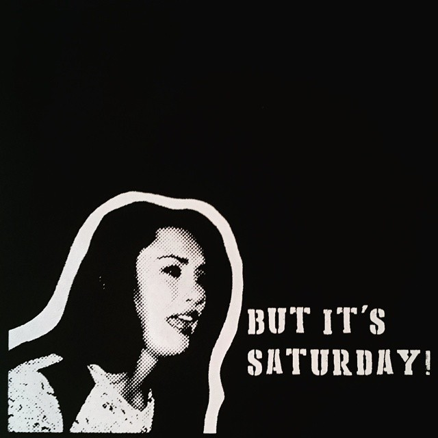 But it's Saturday IMYBY screenprint