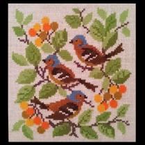 farmors fåglar korsstygn