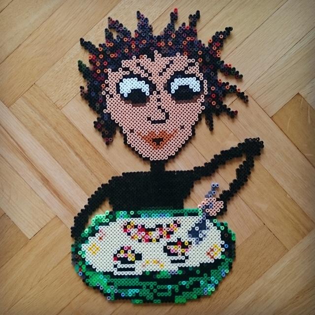 Cereal Killer bead art