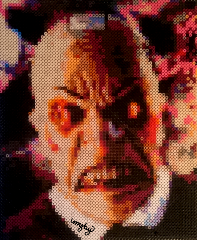 livid smiler doctor who perler hama nabbi beads
