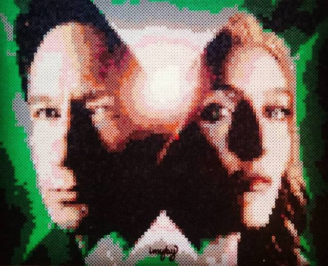X FILES hama perler nabbi beads IMYBY